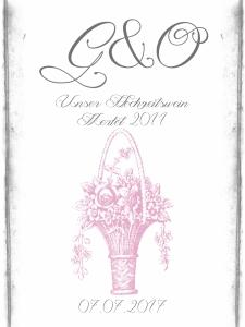 Etikette Hochzeitswein graurosa